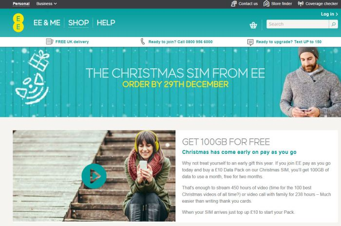 EE 100Gb offer page